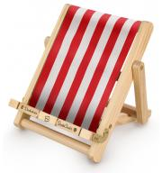 Stojan na knihu, čítačku a tablet Deckchair Bookchair Medium Stripy Red